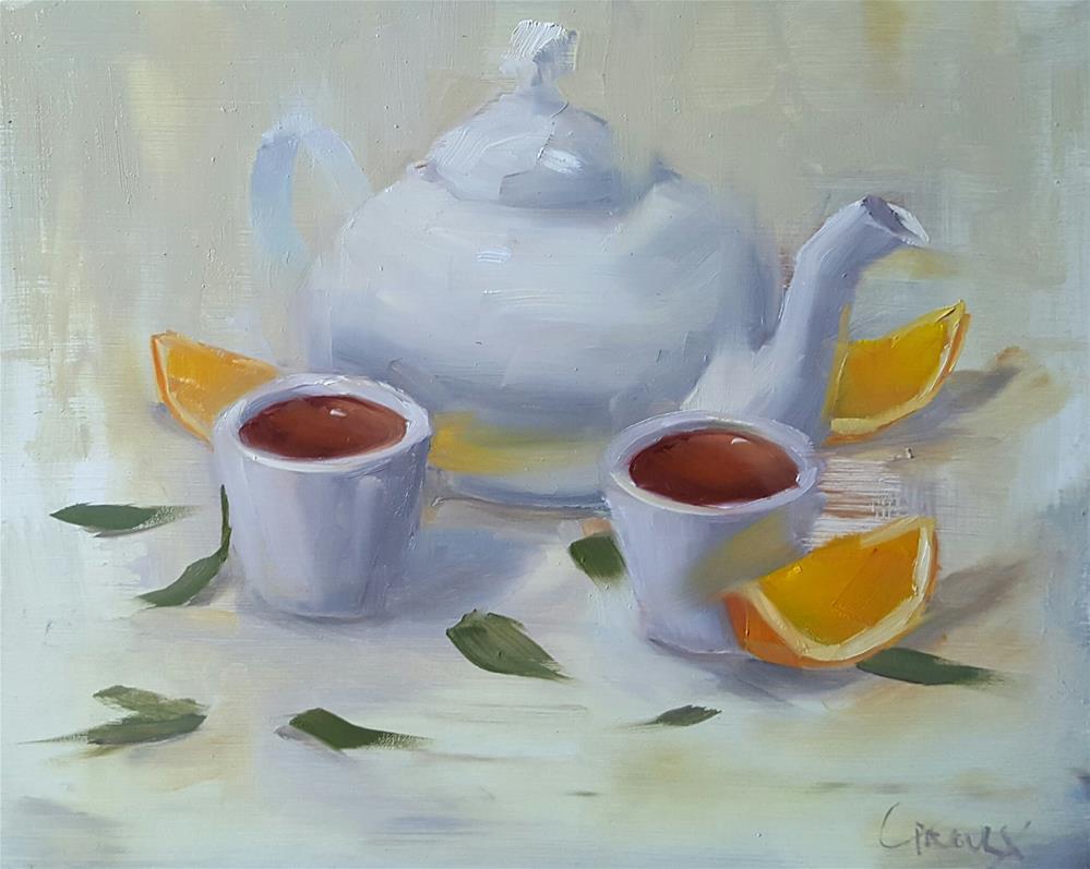 """""""Orange Delight"""" original fine art by Cory Proulx"""