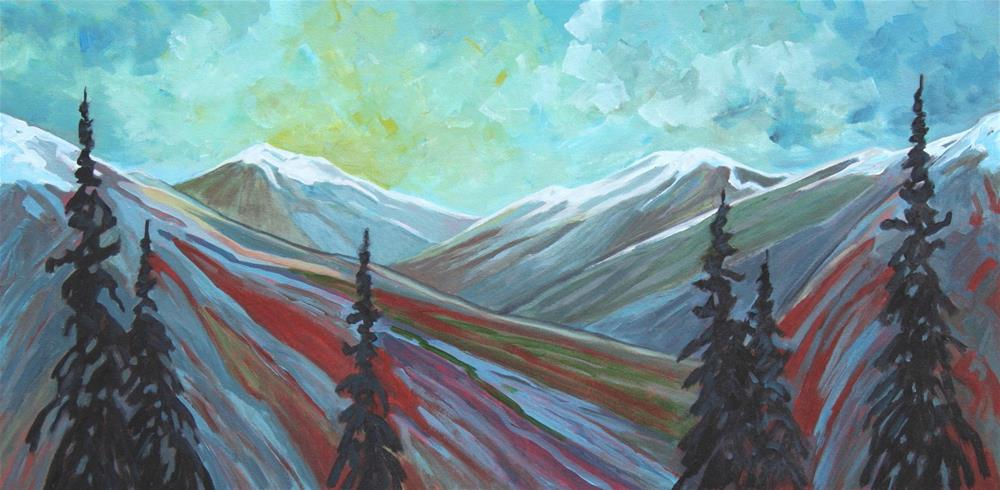 """Deep in the Mountains"" original fine art by Sage Mountain"