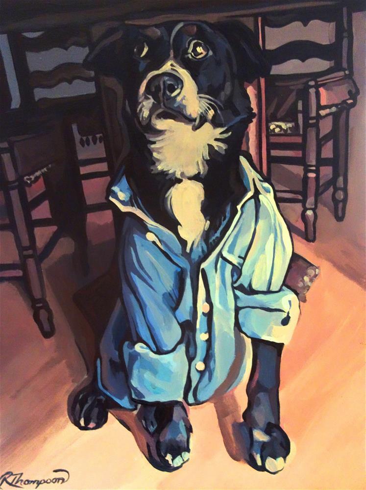 """Maslow"" original fine art by Rachel Thompson"