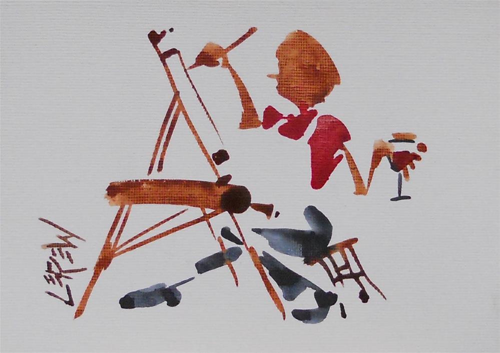 """Serendipity Blot Figure Sketch #13-05-07"" original fine art by Larry Lerew"