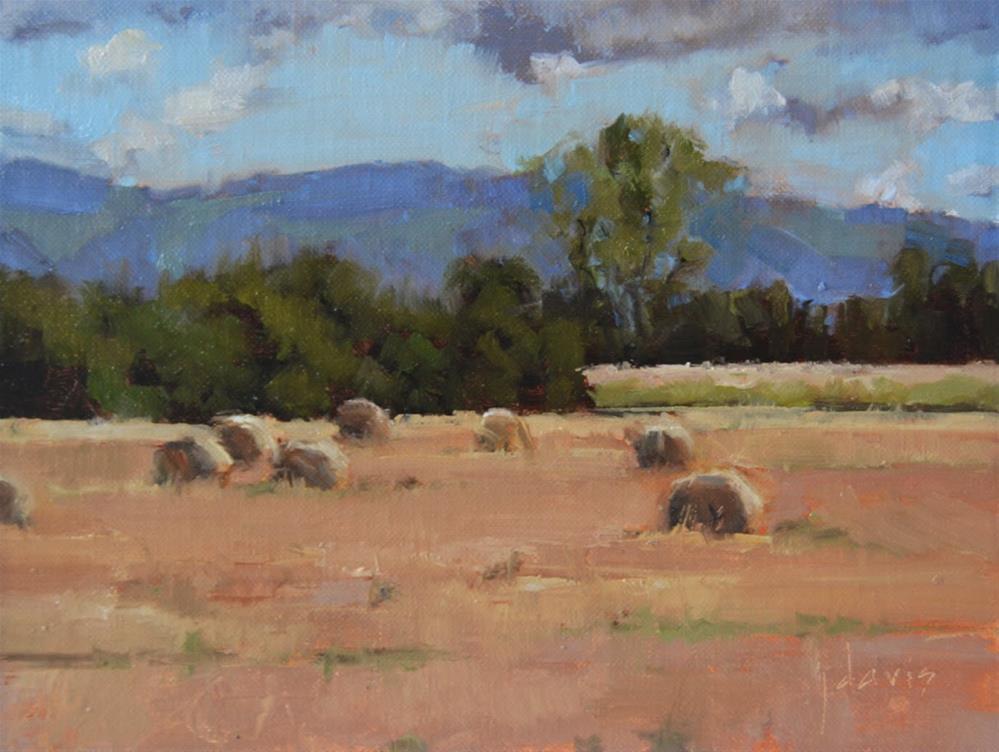 """French Countryside"" original fine art by Julie Davis"