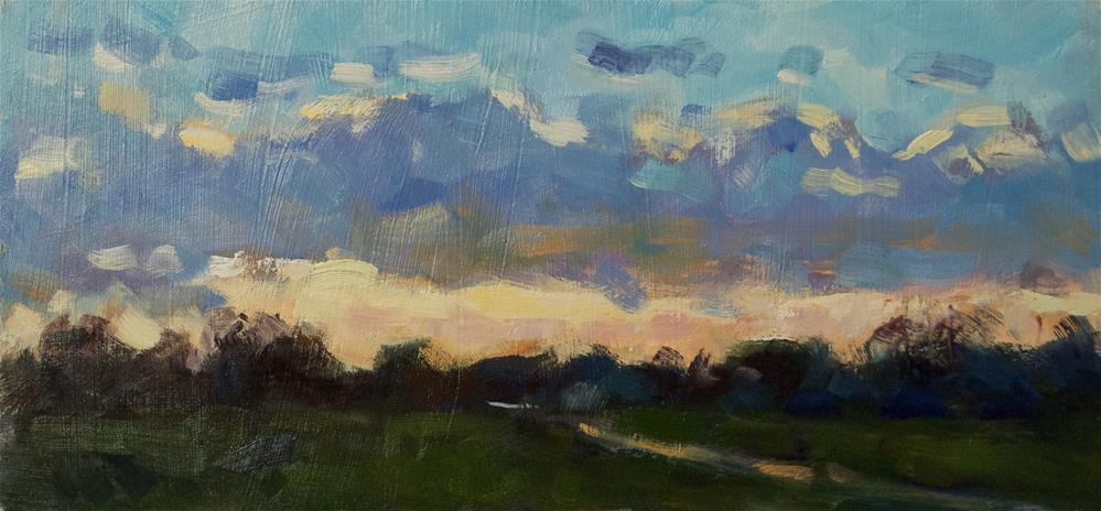 """Sunset, West Sussex"" original fine art by Andre Pallat"