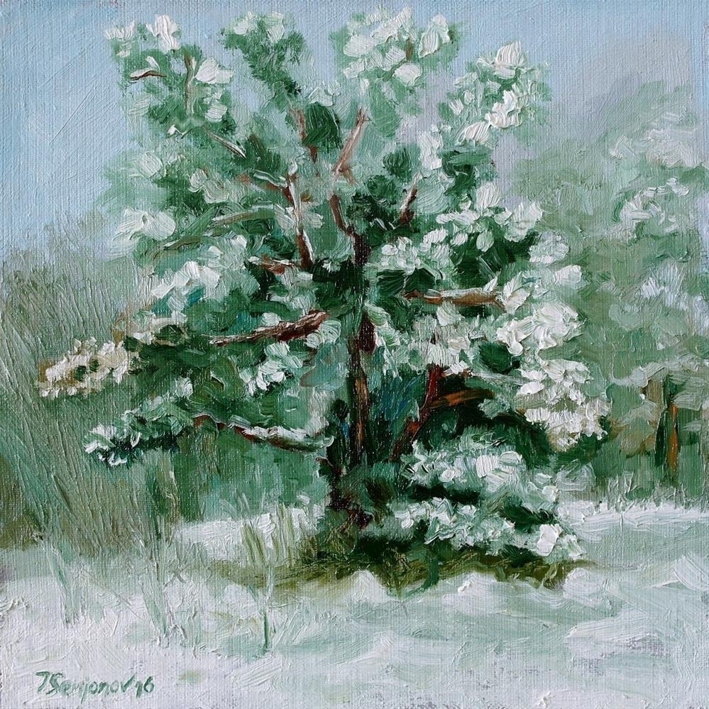 """winter forest"" original fine art by Juri Semjonov"