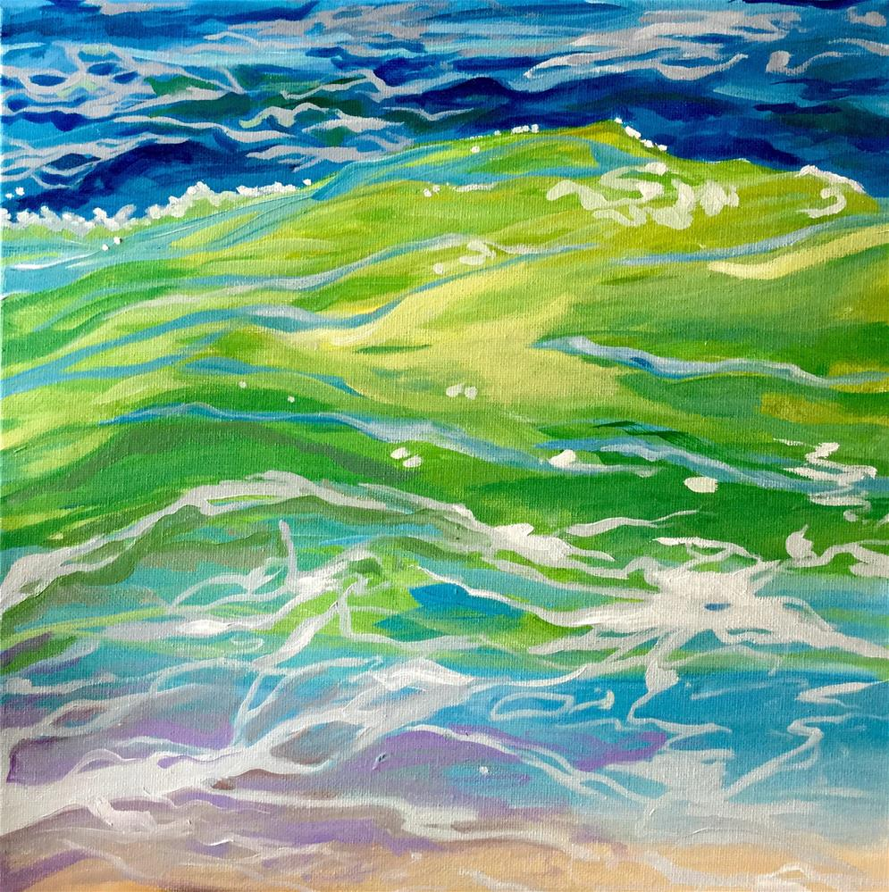 """Ride the Waves"" original fine art by Lauren Kuhn"