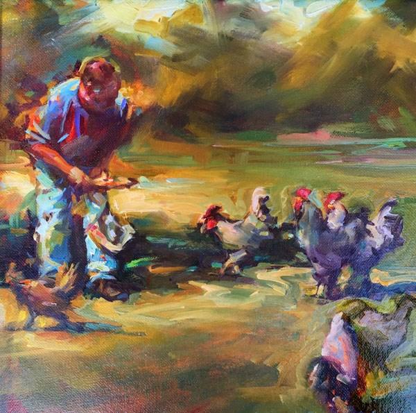 """Feeding Frenzy"" original fine art by Karen Bruson"