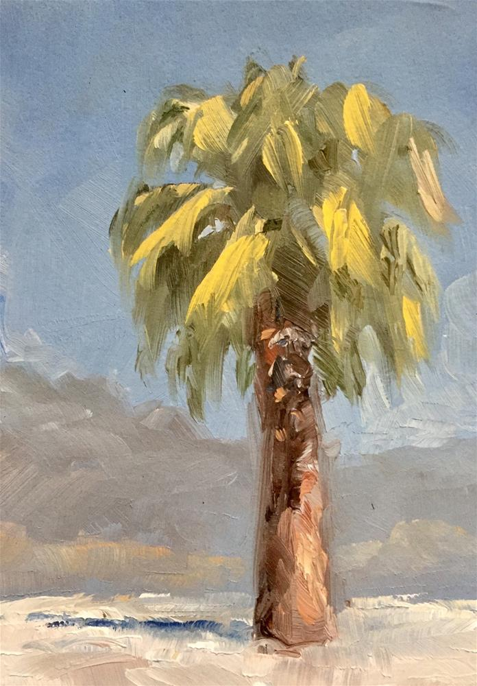 """Palm Springs Plein Air"" original fine art by Gary Bruton"