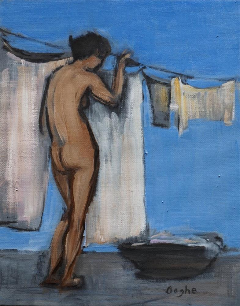 """Laundry 2"" original fine art by Angela Ooghe"