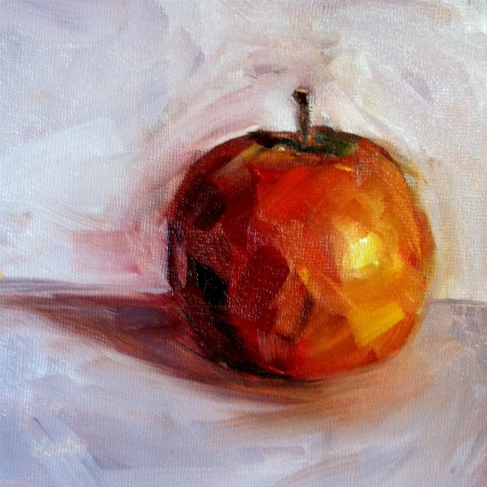 """Apples with Fred"" original fine art by Kristen Dukat"