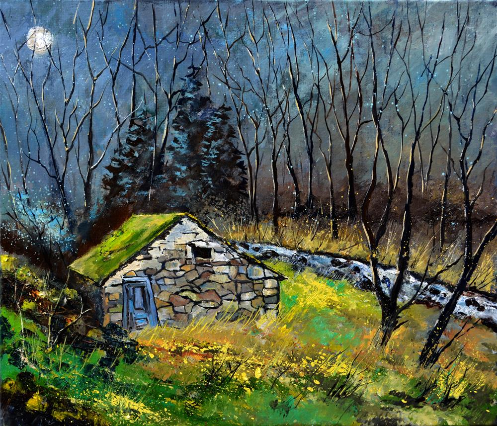 """In the wood"" original fine art by Pol Ledent"