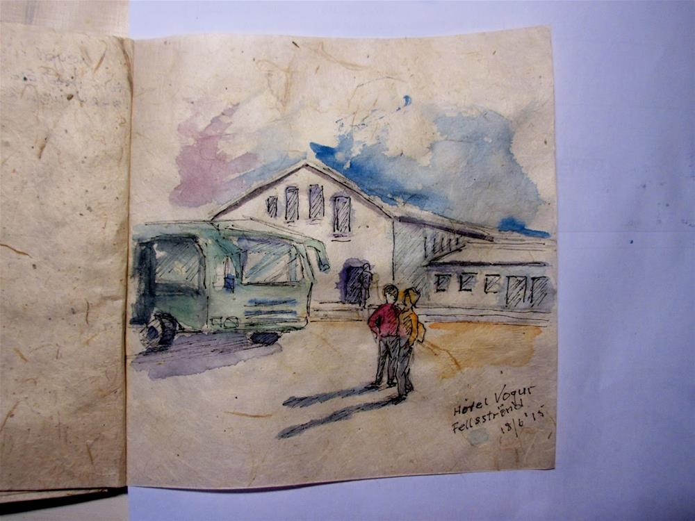 """My travelling journal"" original fine art by Steinunn Einarsdottir"