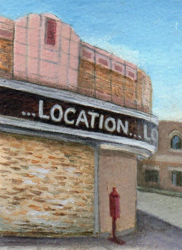 """Location, Location"" original fine art by Debbie Shirley"