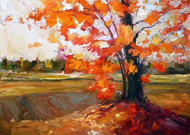 """Herbst Ahorn"" original fine art by Jurij Frey"