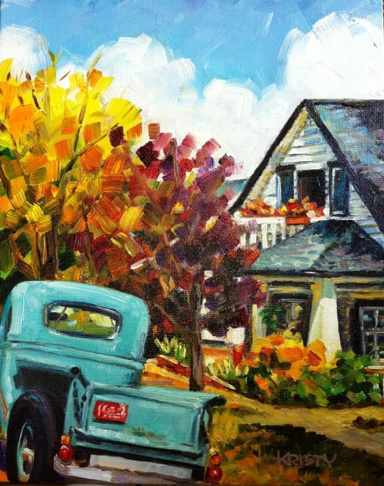"""VINTAGE MT VERNON"" original fine art by Kristy Tracy"