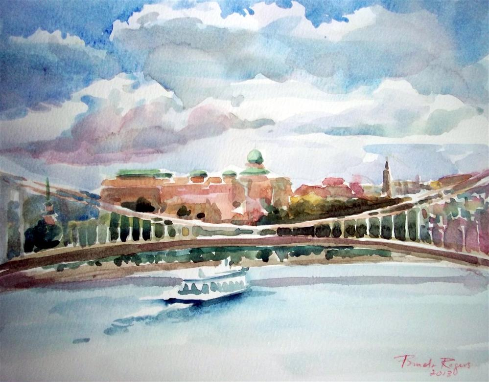 """Buda Castle, Budapest"" original fine art by Pamela Jane Rogers"