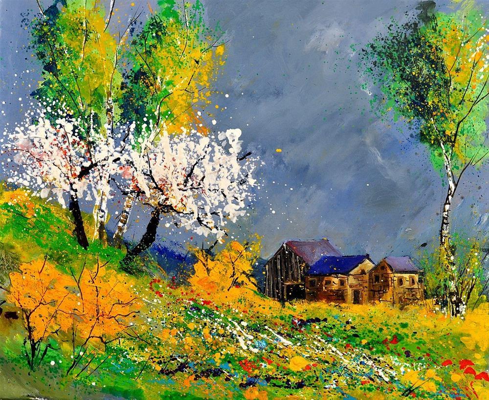 """""""spring 56314092"""" original fine art by Pol Ledent"""