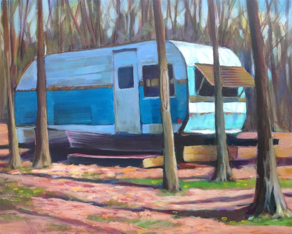 """Dave's Trailer"" original fine art by Susan Suraci"