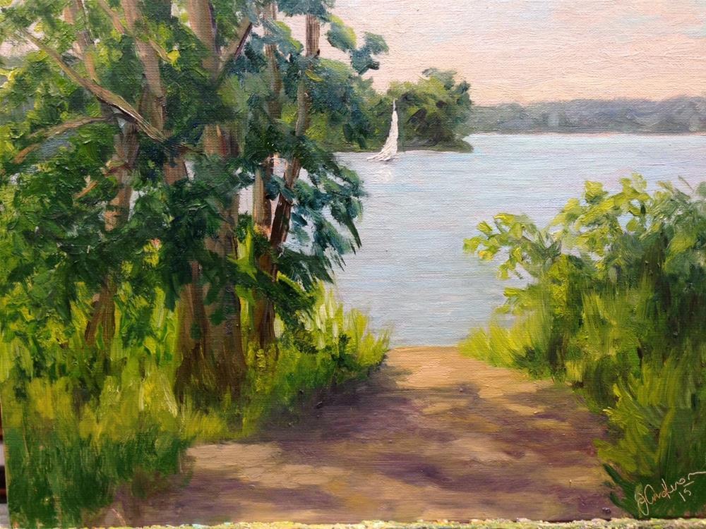 """Sailing Solo"" original fine art by Judith Anderson"