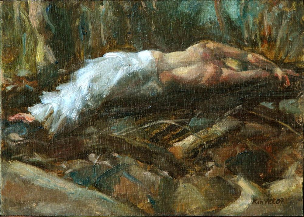 """Antiope sleeping"" original fine art by Myriam Kin-Yee"