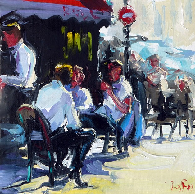 """cafe"" original fine art by Jurij Frey"