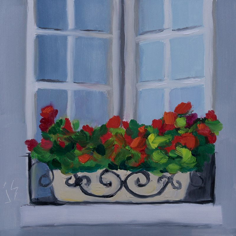 """Window in Paris"" original fine art by Johnna Schelling"