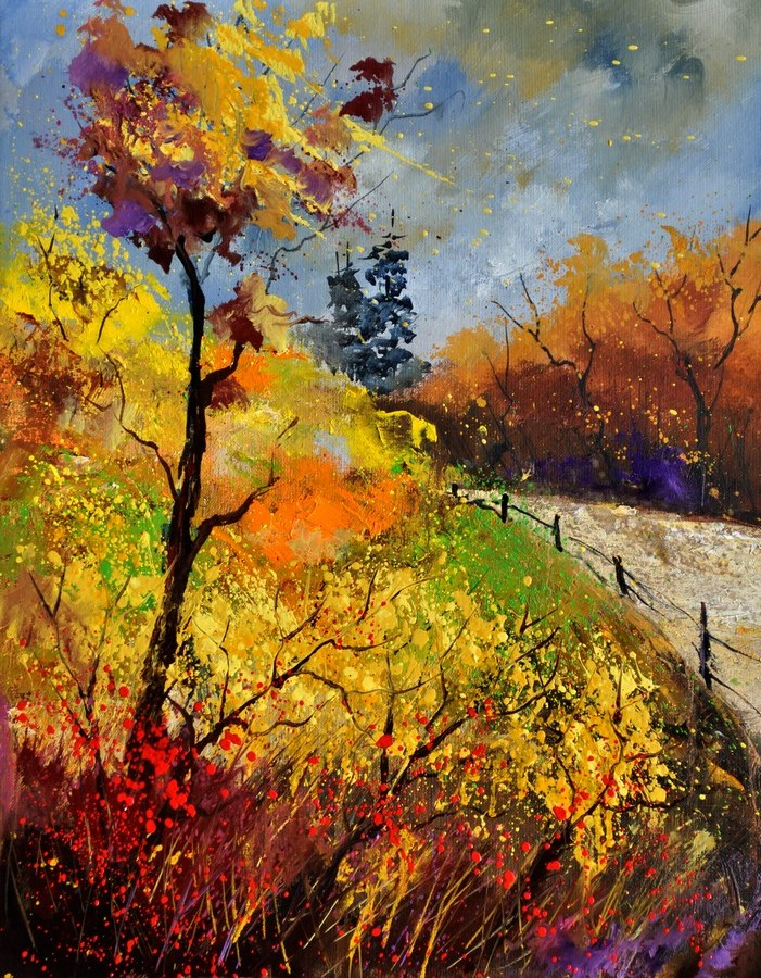 """Landscape autumn 454111"" original fine art by Pol Ledent"