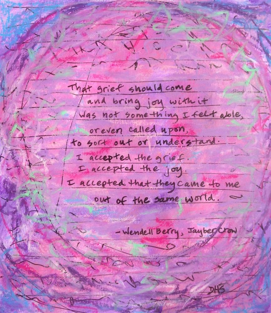 """""""Giving Thanks"""" original fine art by Dotty  Seiter"""