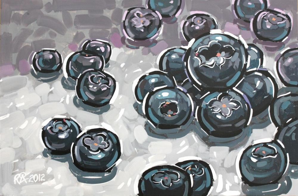 """Playful blueberries 1"" original fine art by Roger Akesson"