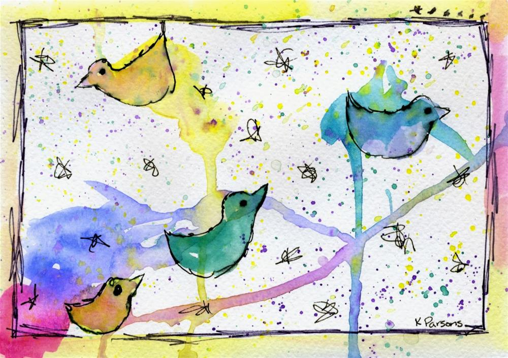 """Flock"" original fine art by Kali Parsons"