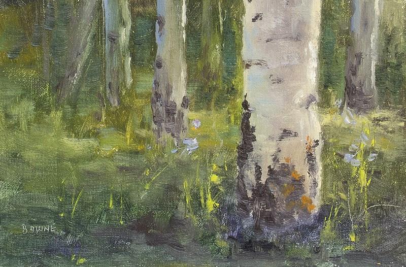 """Aspen Boles"" original fine art by Bonnie Bowne"