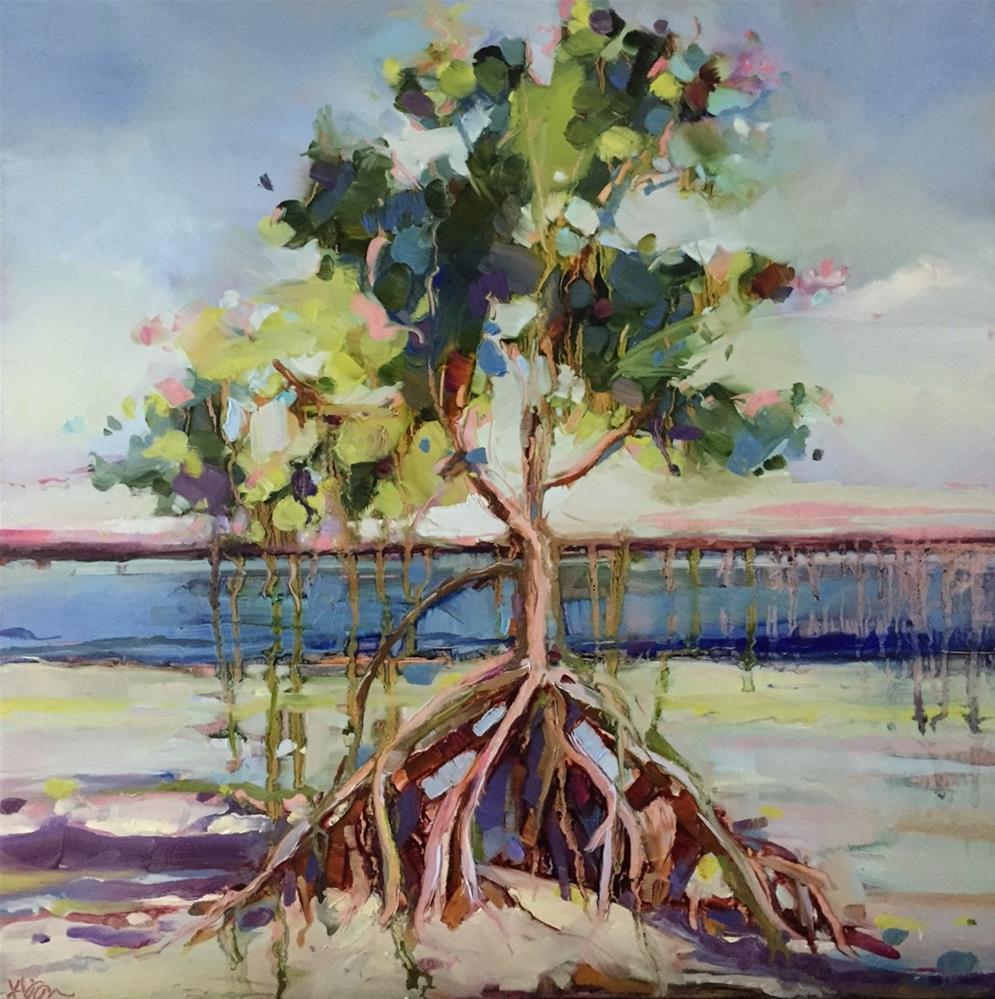 """Keys Mangrove"" original fine art by Kathleen Broaderick"