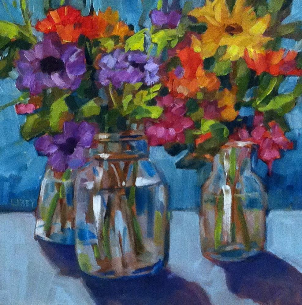 """Mixed Flowers"" original fine art by Libby Anderson"