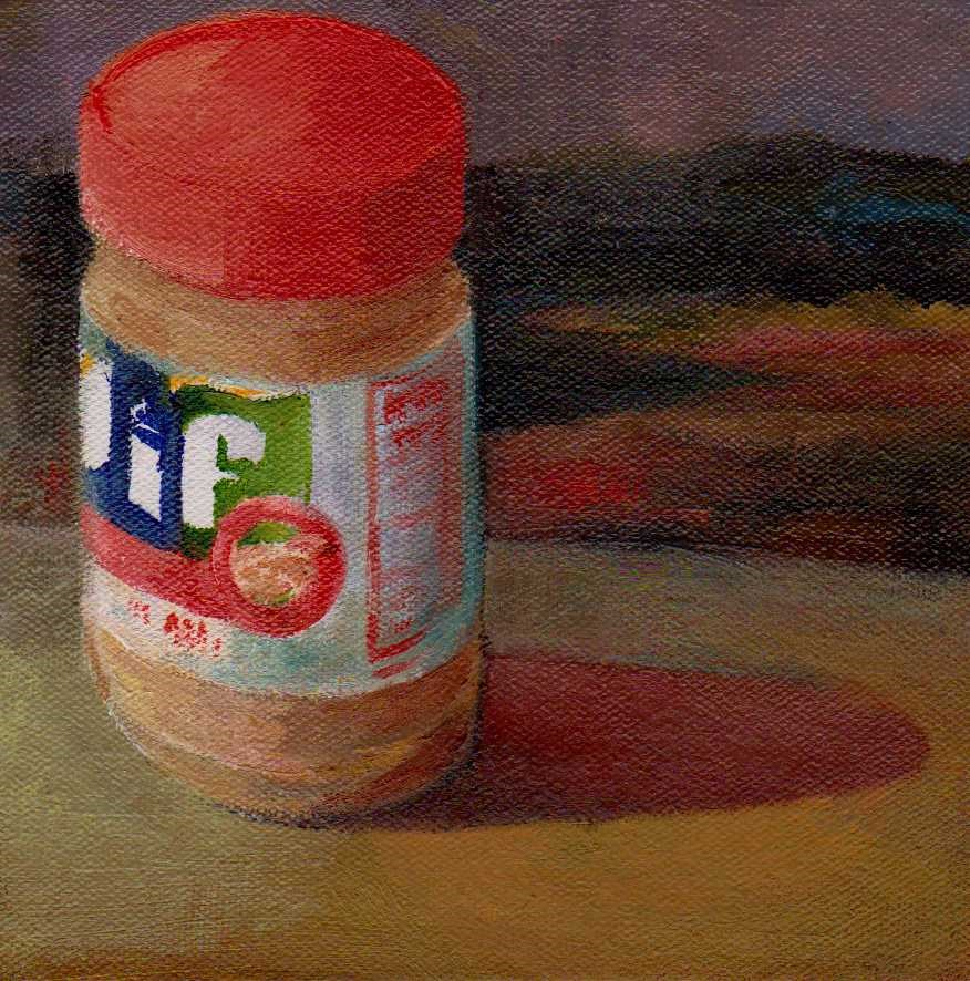 """peanut butter"" original fine art by Leo DeBak"