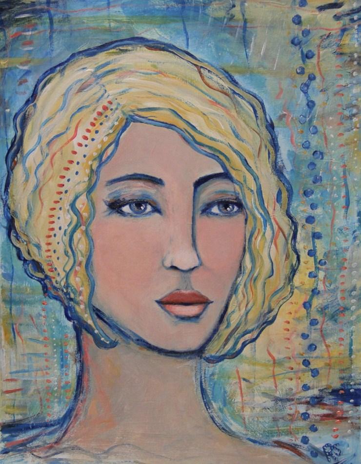 """Art Deco Beauty"" original fine art by Roberta Schmidt"