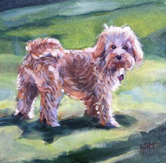 """Harper"" original fine art by Linda Marino"