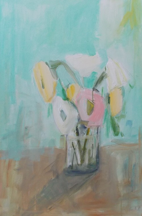 """Floral Mint"" original fine art by Pamela Munger"