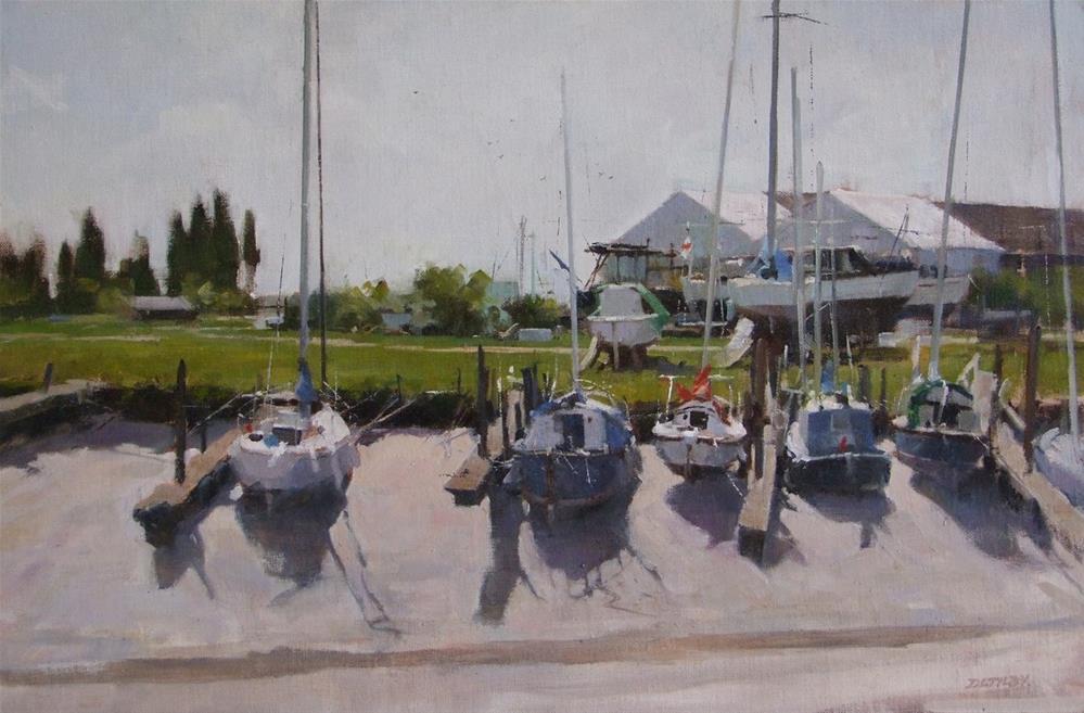 """Wating for the Tide"" original fine art by Deborah Tilby"