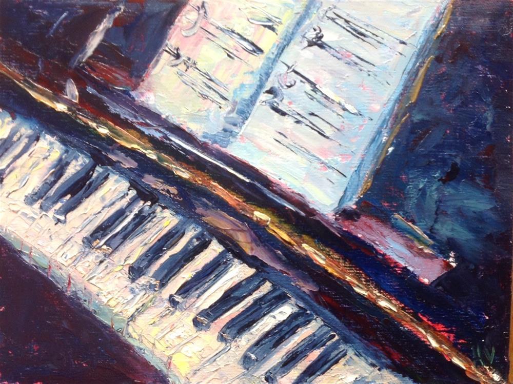 """""""Play Me A Song"""" original fine art by Helen Viebrock Hamel"""