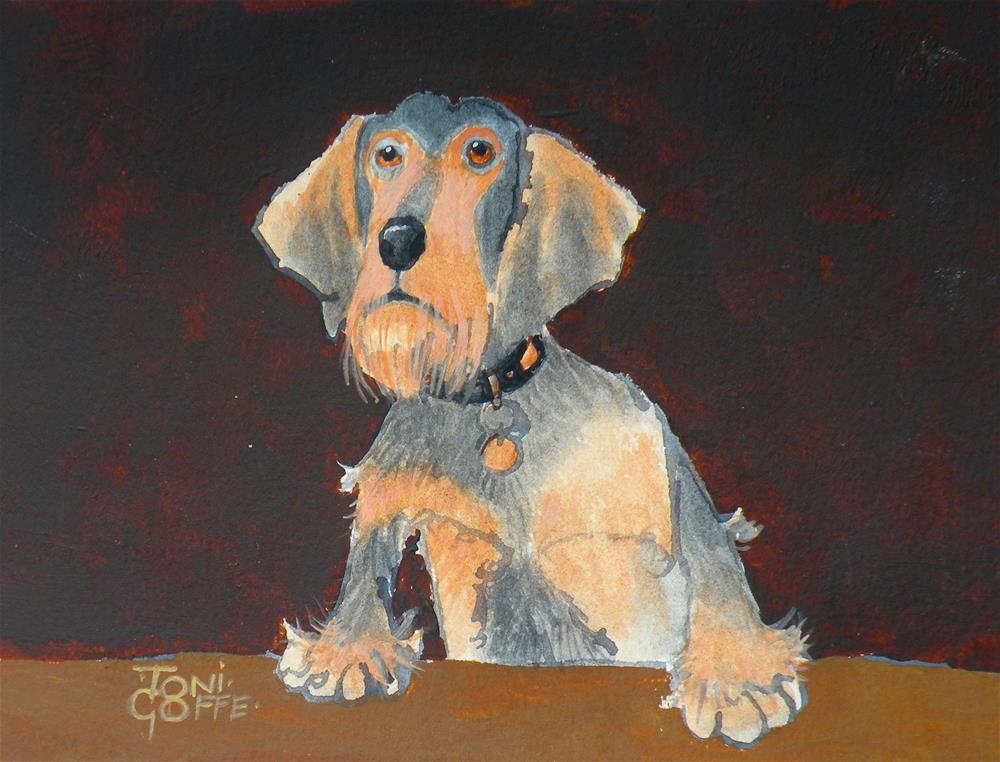 """Max"" original fine art by Toni Goffe"