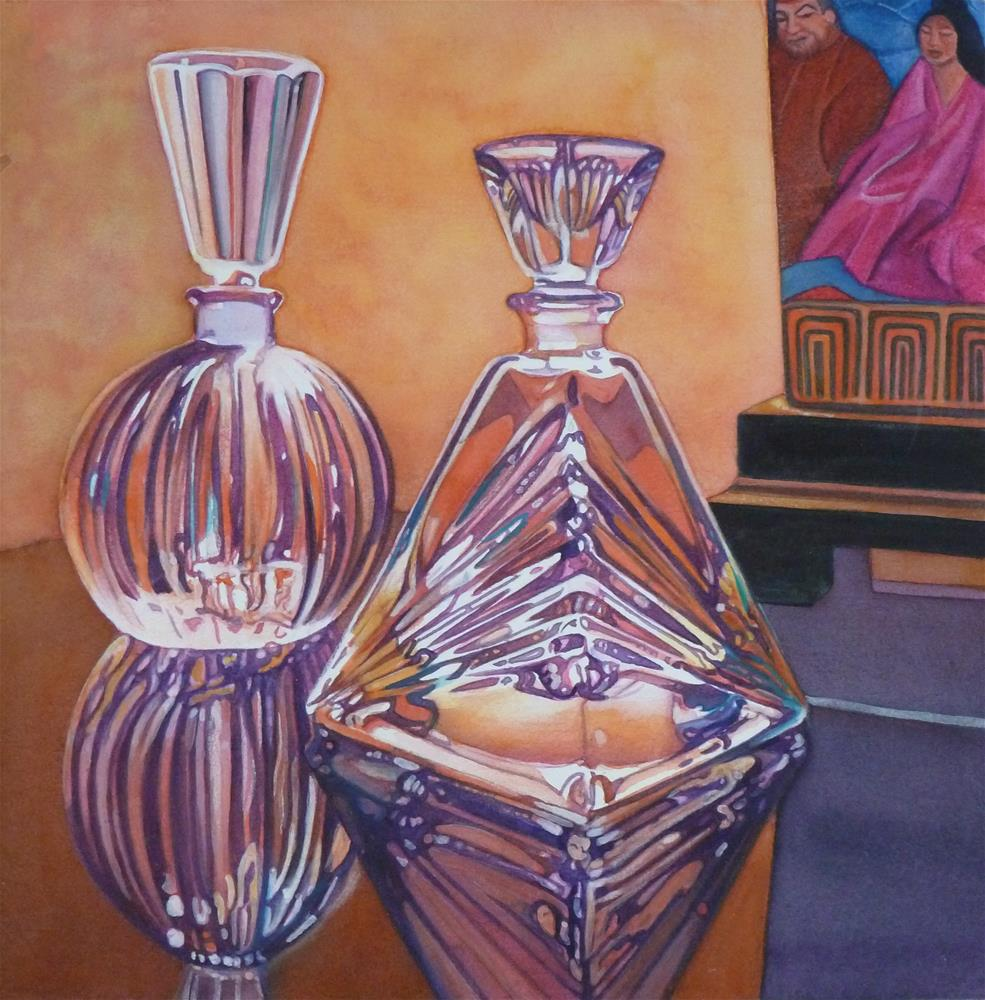 """Crystal Decanters"" original fine art by Christine Anagnostis"