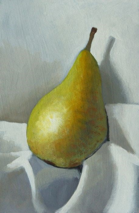 """Pear"" original fine art by Peter Orrock"