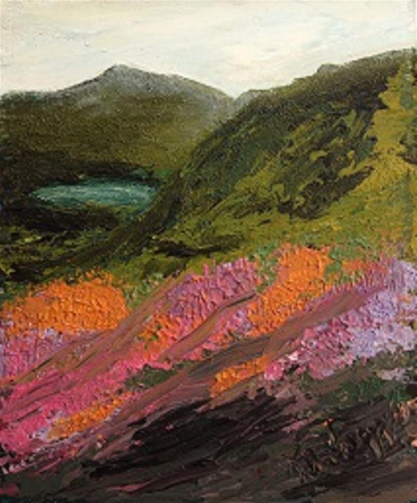 """Wicklow Mountains"" original fine art by Marie O' Higgins"