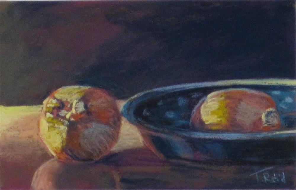 """Onions and Bowl"" original fine art by Toby Reid"