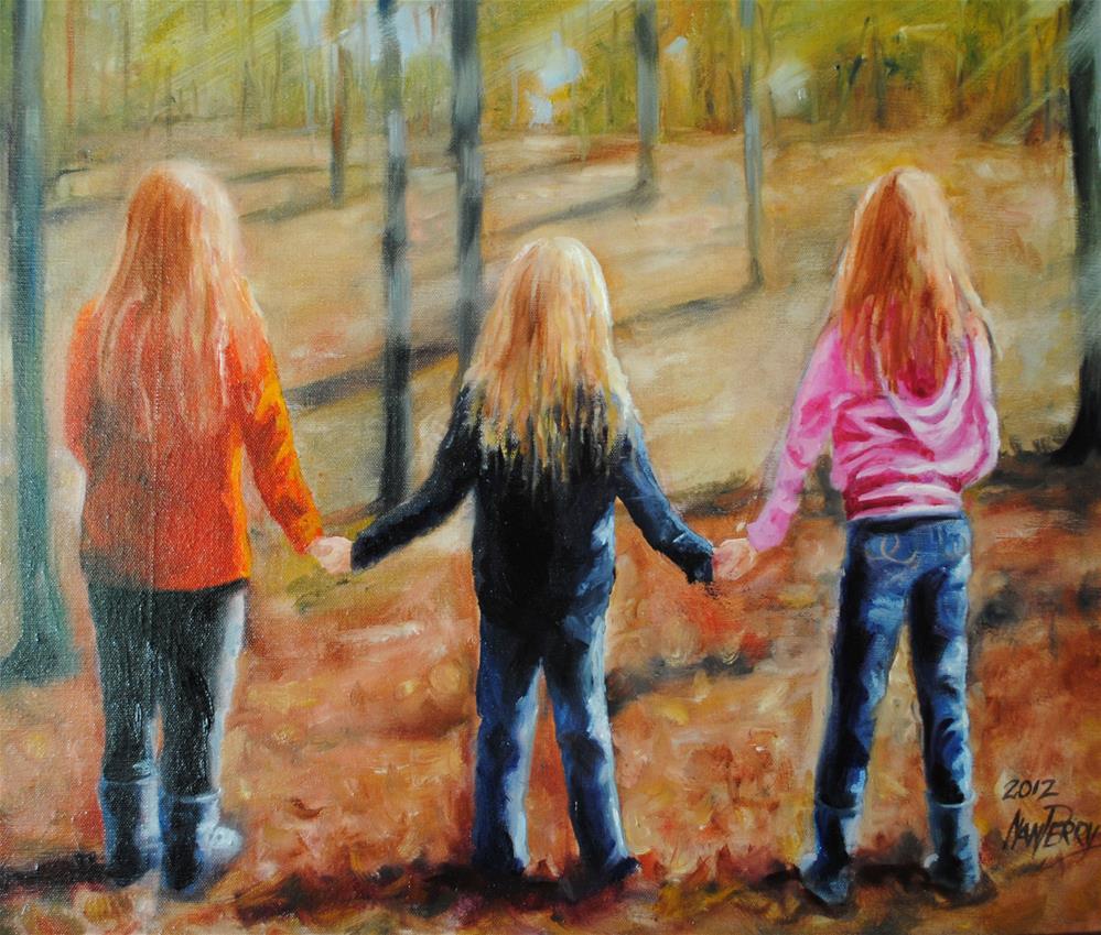 """The Girls"" original fine art by Nan Perry"