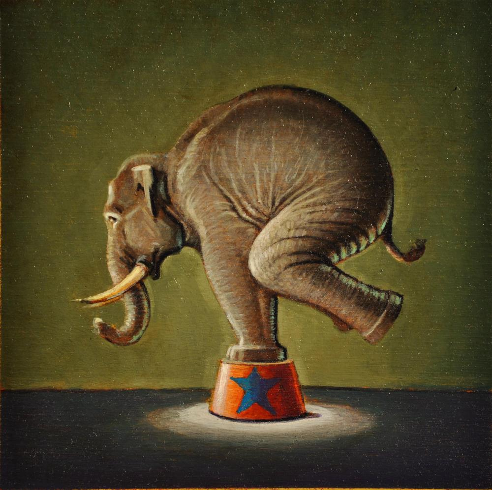 """Elephant"" original fine art by Robert LaDuke"