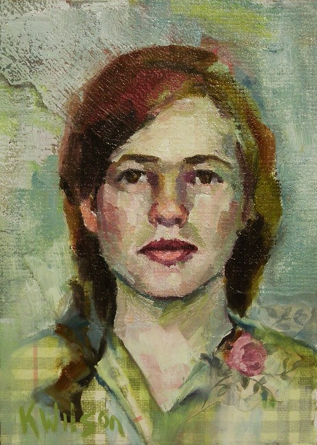 """Flower Lapel"" original fine art by Katie Wilson"