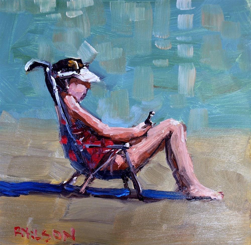 """""""Texter"""" original fine art by Rick Nilson"""
