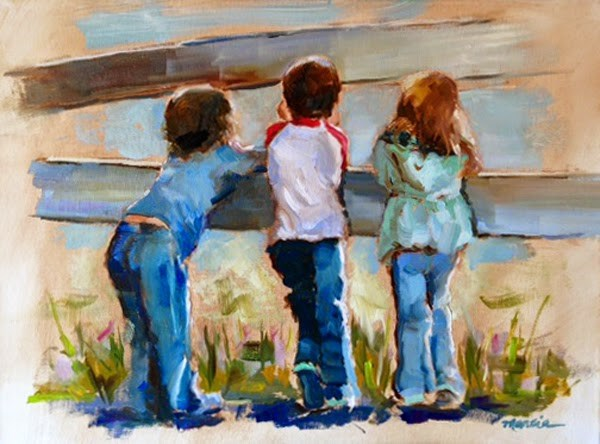 """Cousins"" original fine art by Marcia Hodges"