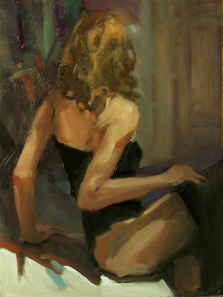 """Behind Closed Doors"" original fine art by Kim Roberti"