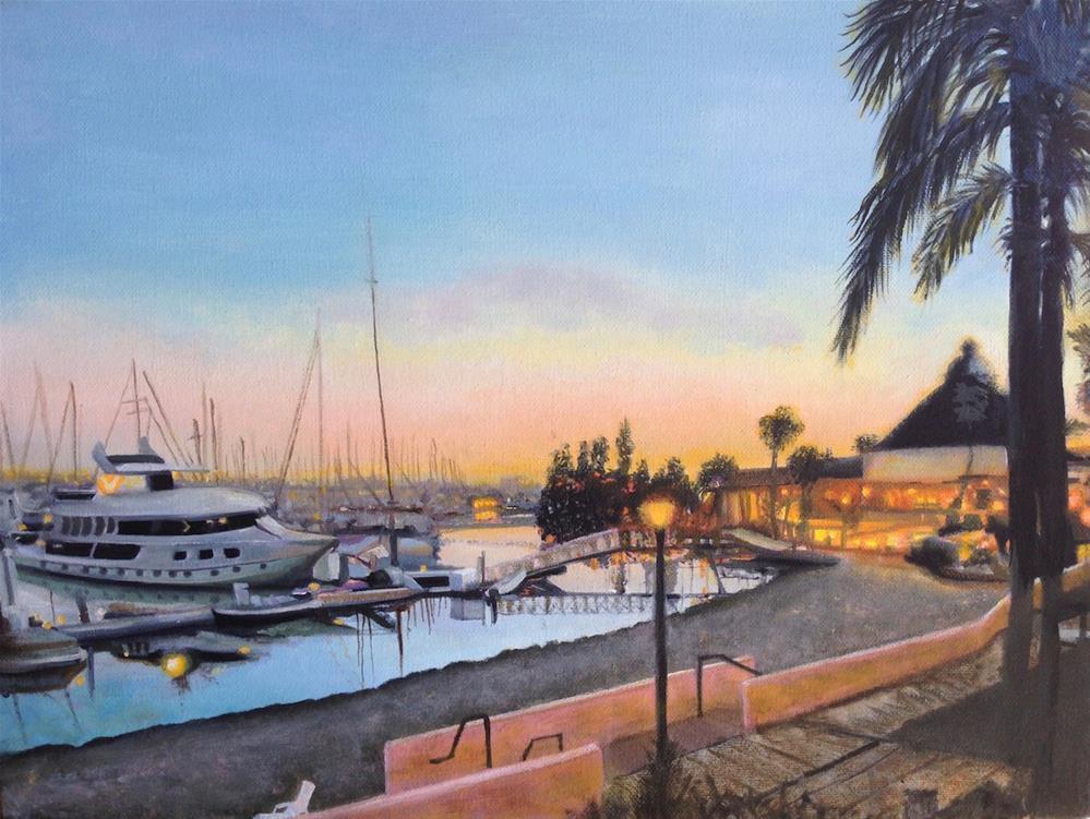 """""""Balboa at dawn"""" original fine art by Karen Stitt"""
