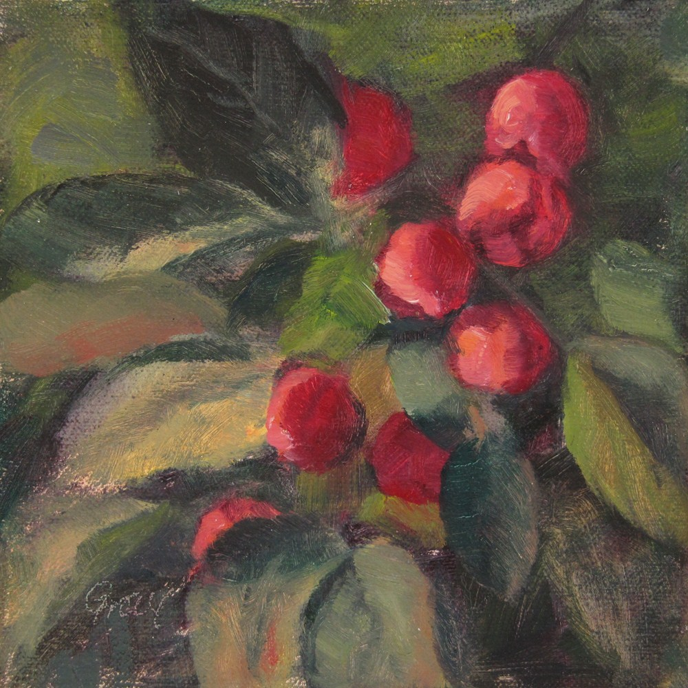 """Orchard Series - Crabapples"" original fine art by Naomi Gray"